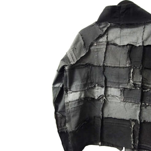 Sustainable upcycled denim fashion genderless jacket