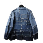 Crying Lightning - Reversible, upcycled denim kimono
