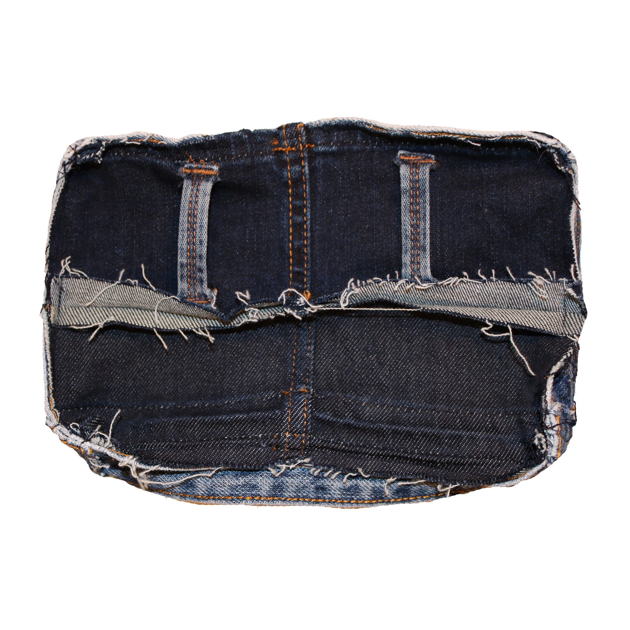 Genderless one-of-a-kind upcycled denim belt bag