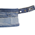 #REMIXbyStevieLeigh reversible upcycled denim belt bag