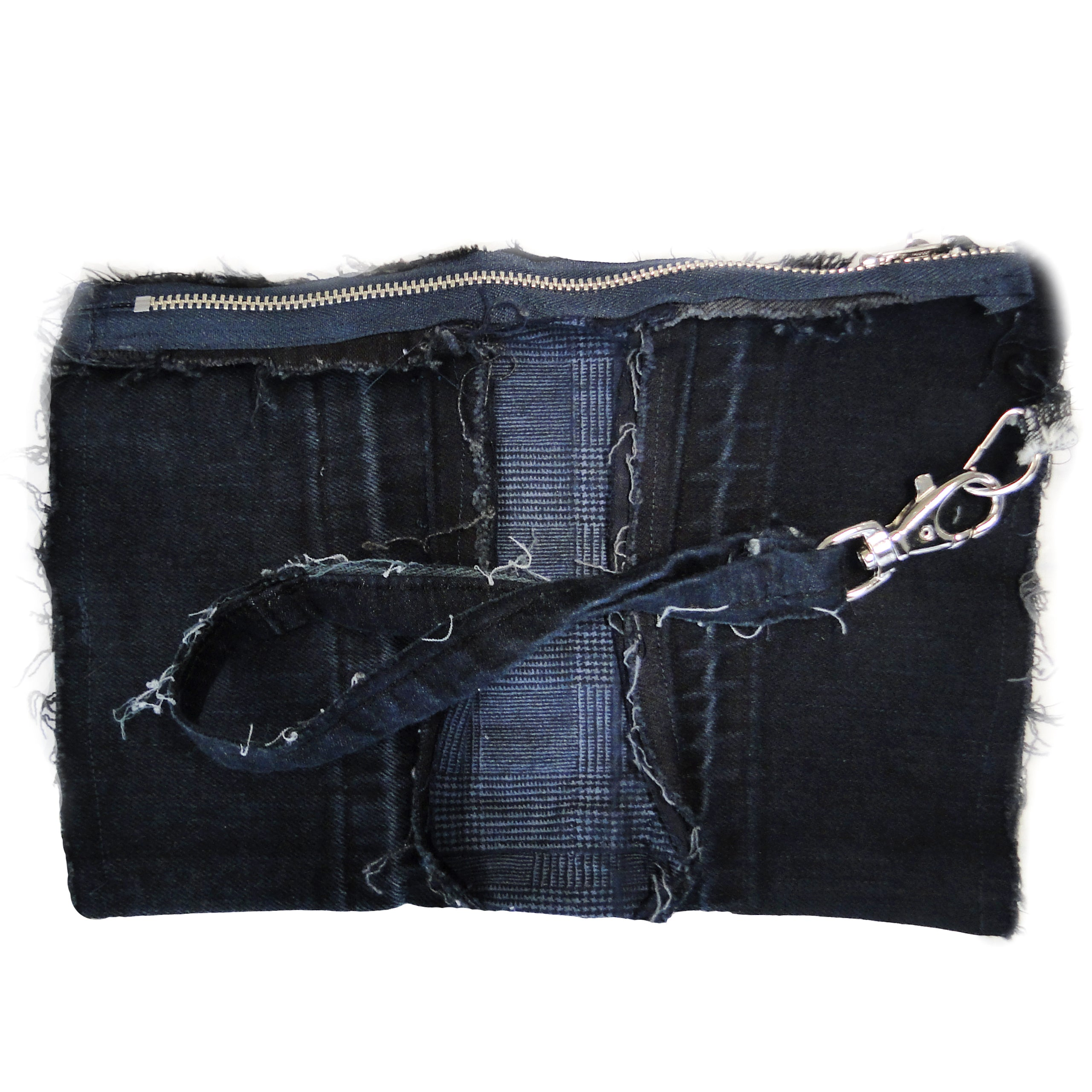 Caught In The Middle - Denim Zip Wristlet