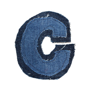 Alphabet upcycled denim patches
