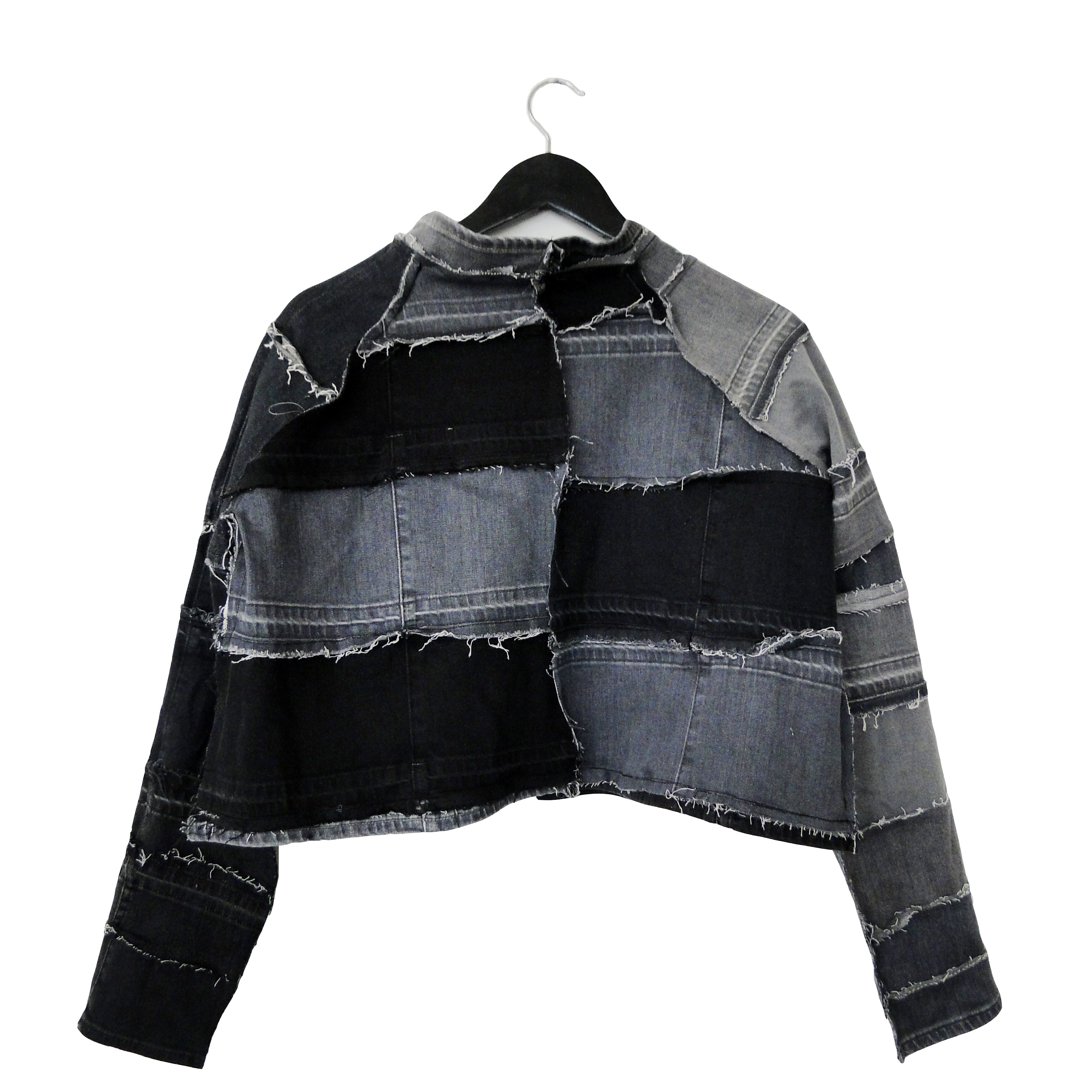 #REMIXbyStevieLeigh reversible checkerboard denim jacket