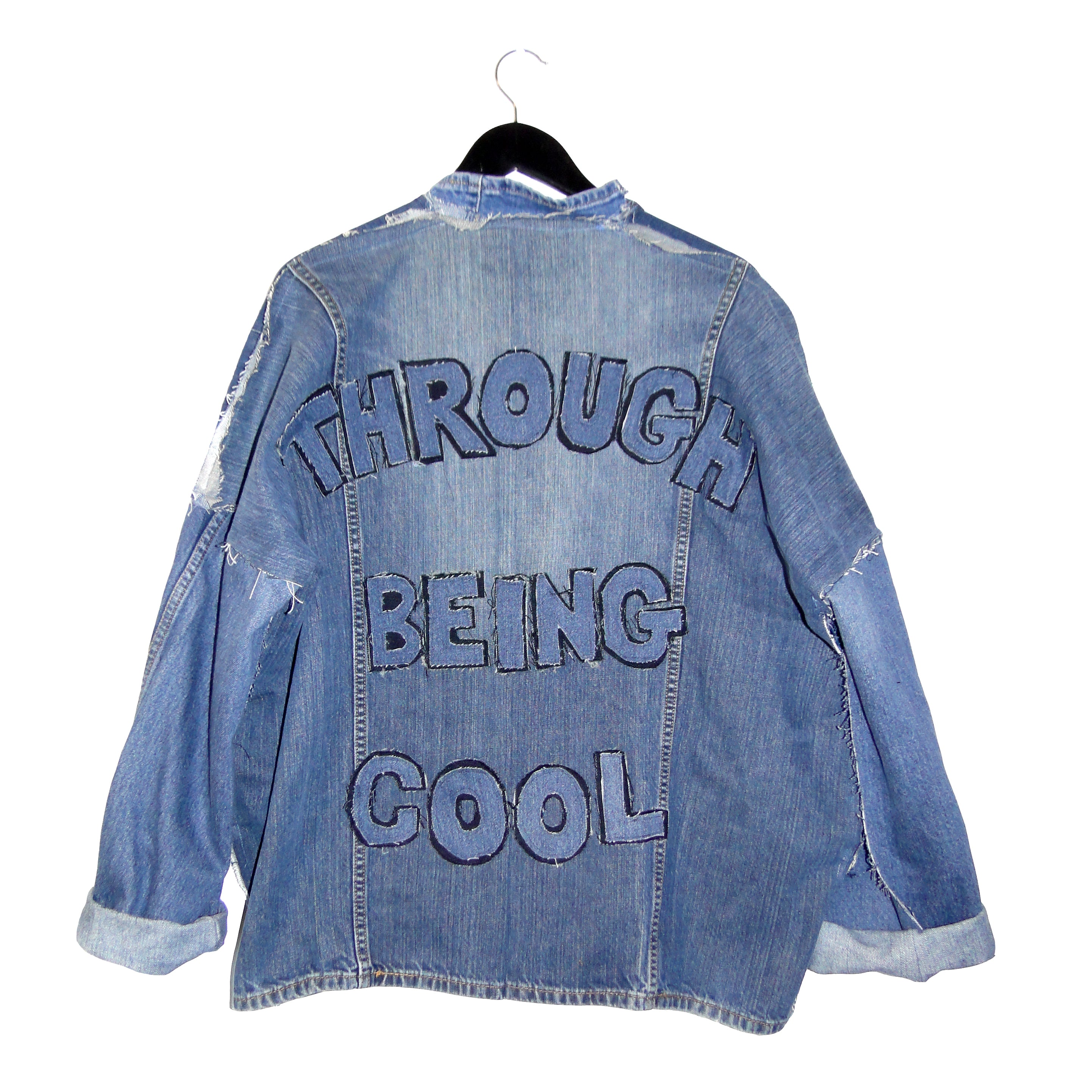 Through Being Cool - Upcycled denim jacket