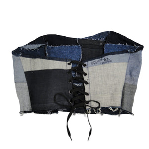 #REMIXbyStevieLeigh upcycled, reversible denim corset