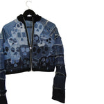 skull denim bomber jacket #REMIXbyStevieLeigh