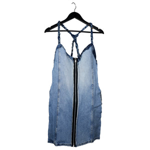 #REMIXbyStevieLeigh genderless reversible upcycled denim dress