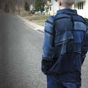 #REMIXbyStevieLeigh reversible genderless upcycled denim shirt