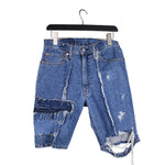 Hole Away - Genderless Upcycled Denim Shorts