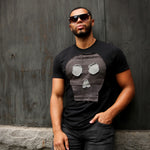 #REMIXbyStevieLeigh eco friendly skull denim tee shirt