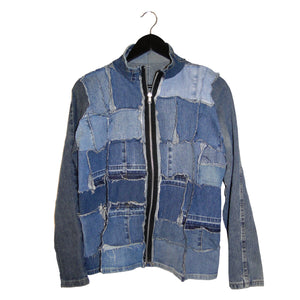 #remixbystevieleigh distressed denim jacket