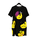 Alt-emoji emo kid t-shirt dress tunic upcycled