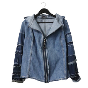 #REMIXbyStevieLeigh reversible upcycled denim jacket