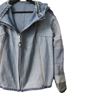 #REMIXbyStevieLeigh reversible genderless upcycled denim jacket