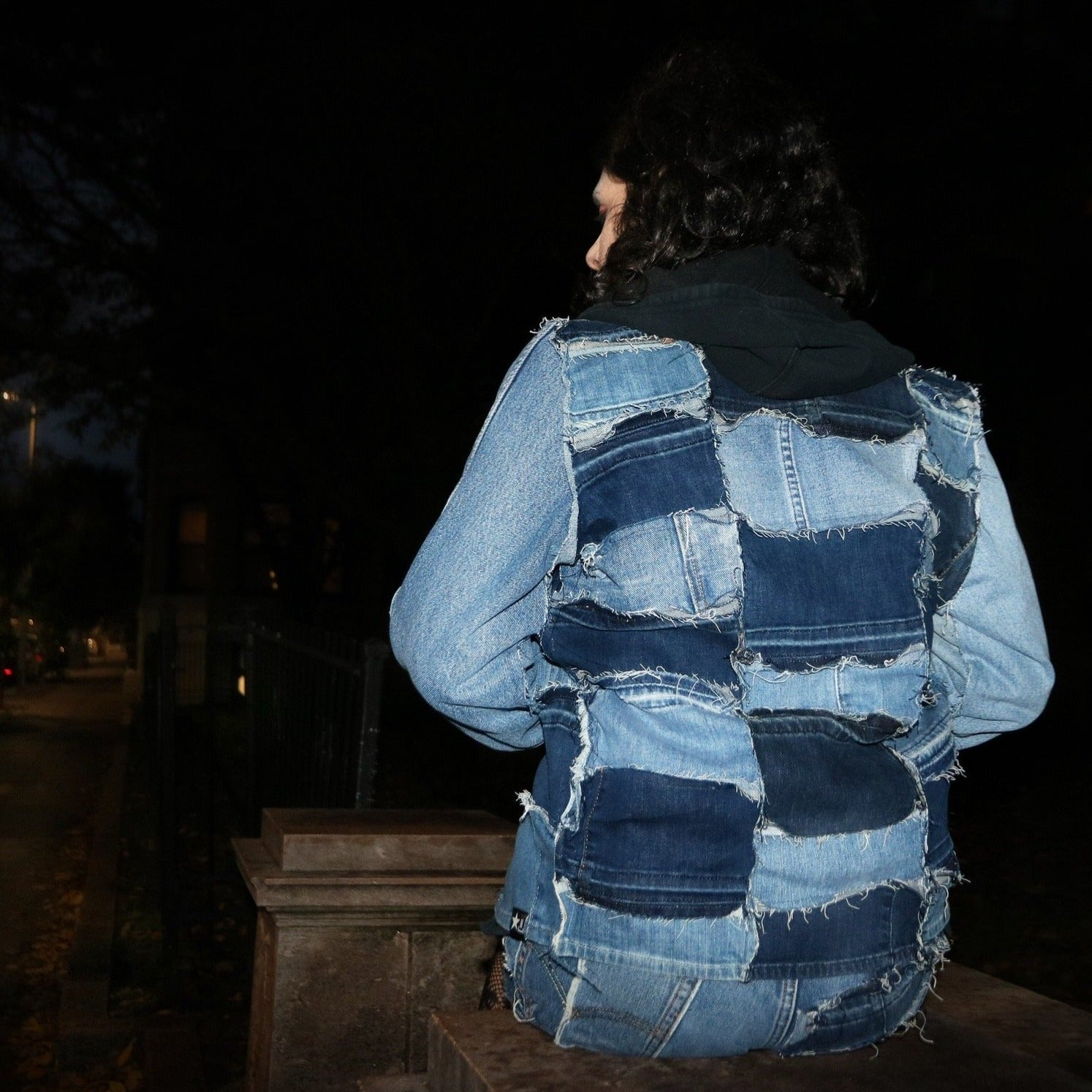 #REMIXbyStevieLeigh upcycled, reversible, sustainable denim jacket