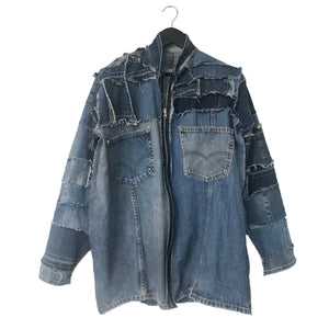 Reversing Machine - Reversible, upcycled denim jacket