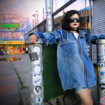#REMIXbyStevieLeigh eco friendly genderless denim jacket