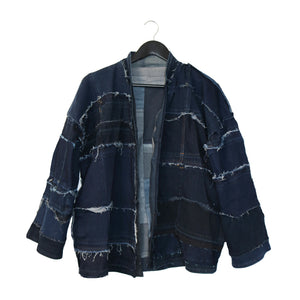 #REMIXbyStevieLeigh reversible upcycled denim kimono