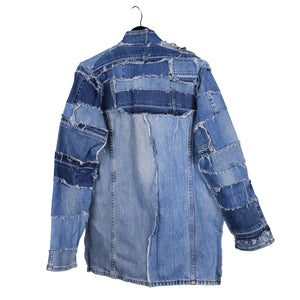 Sustainable denim jacket by remix by stevie leigh