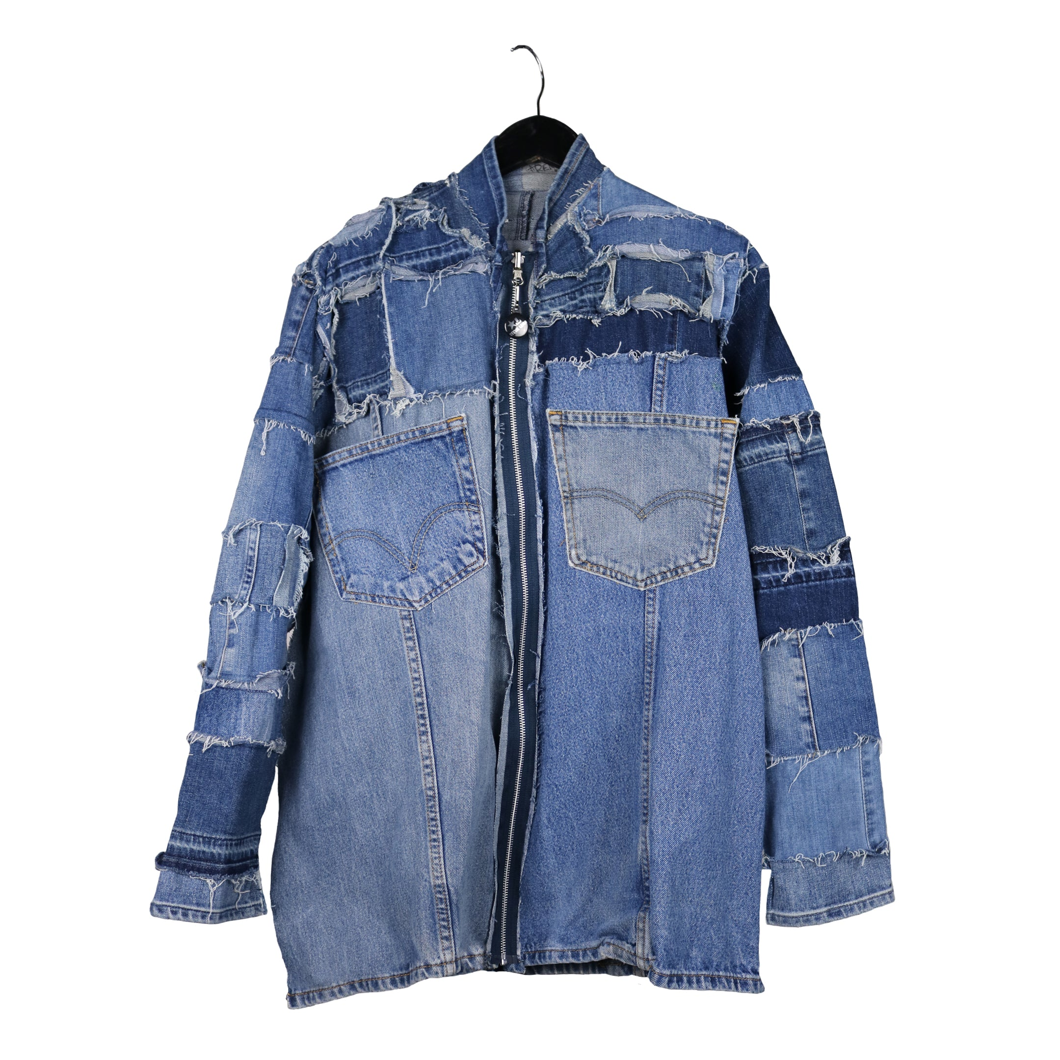 Sustainable denim jacket by stevie leigh