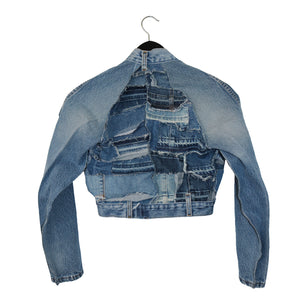 #REMIXbyStevieLeigh reversible upcycled denim crop top