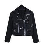 Sweatshirt fleece moto jacket punk patches #REMIXbyStevieLeigh
