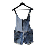 I Want It All - Genderless, Upcycled Denim Short Overalls