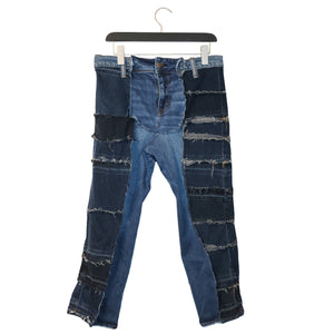 #REMIXbyStevieLeigh eco friendly patchwork jeans