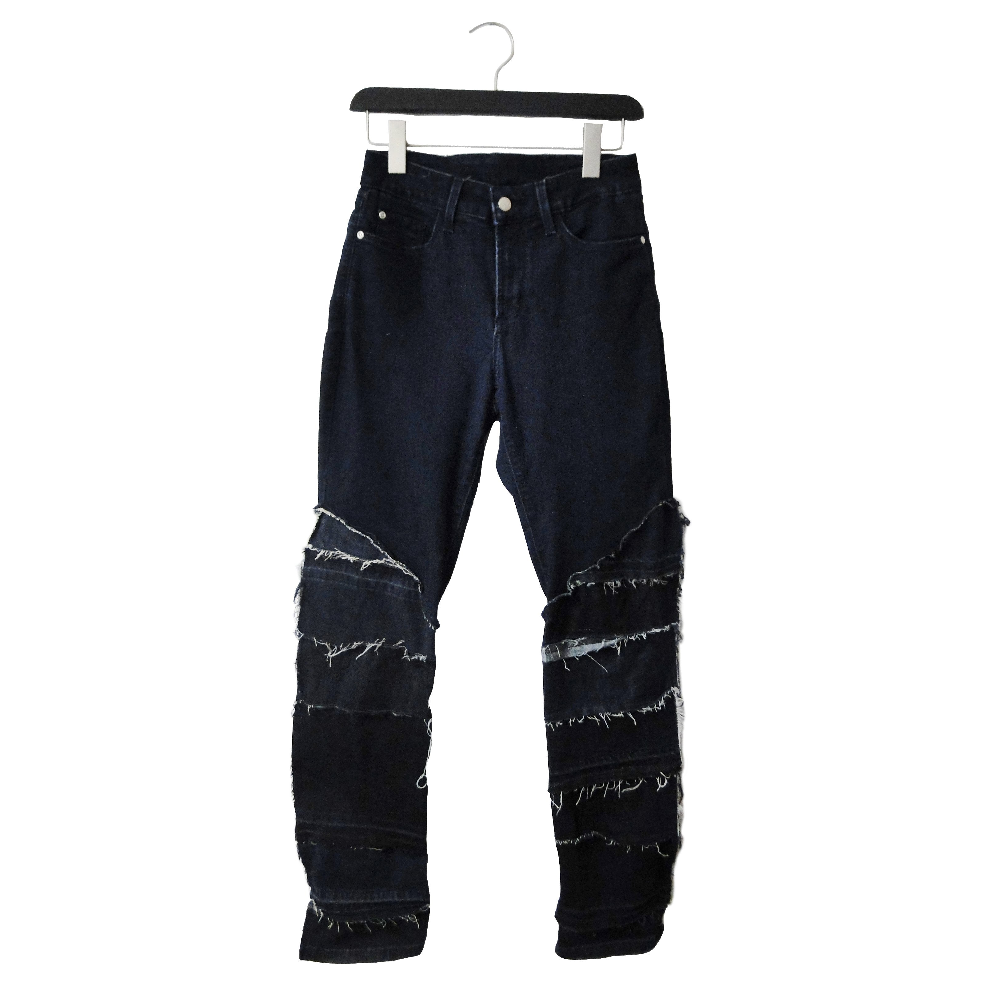 #REMIXbyStevieLeigh upcycled moto blue jeans