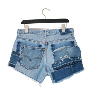 #REMIXbyStevieLeigh eco friendly patchwork shorts