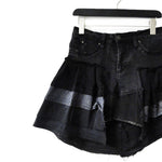 Sustainable upcycled denim fashion genderless skirt front