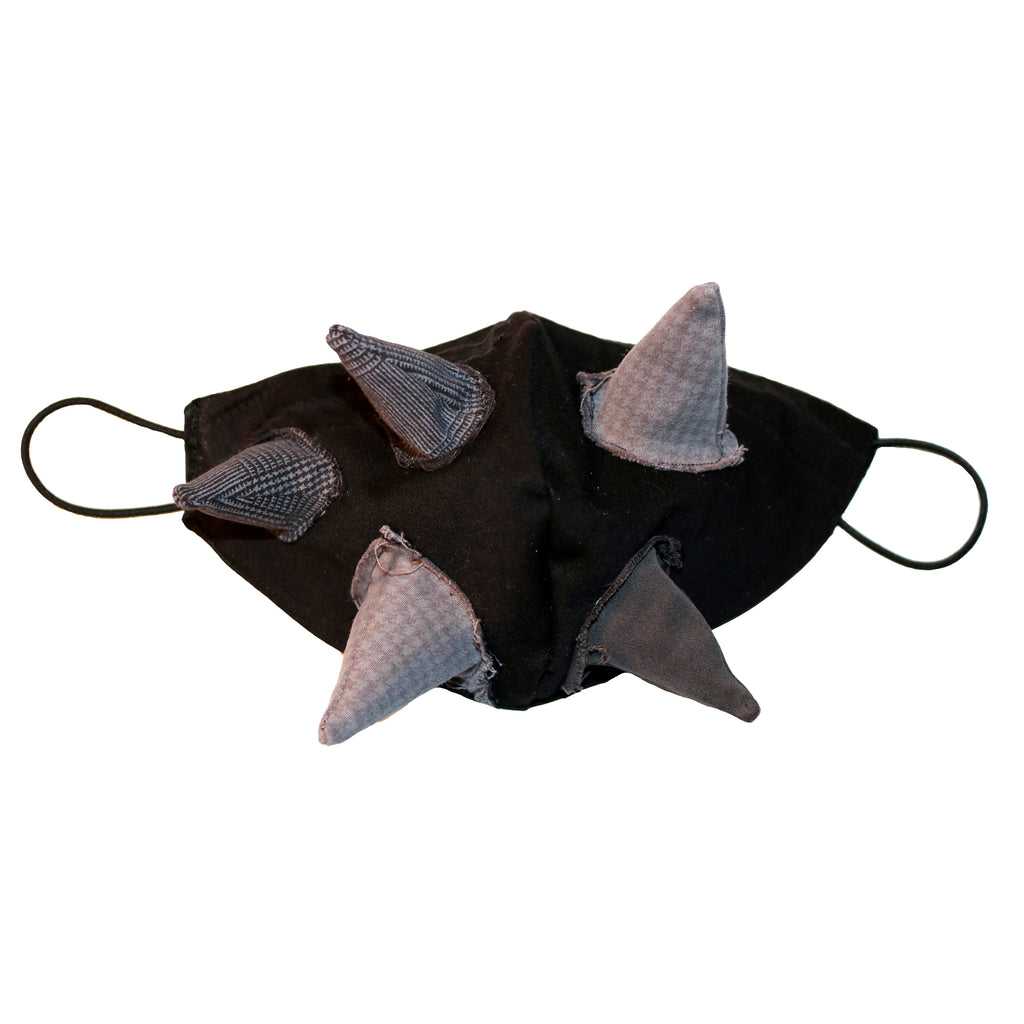 denim reusable face mask with spikes halloween