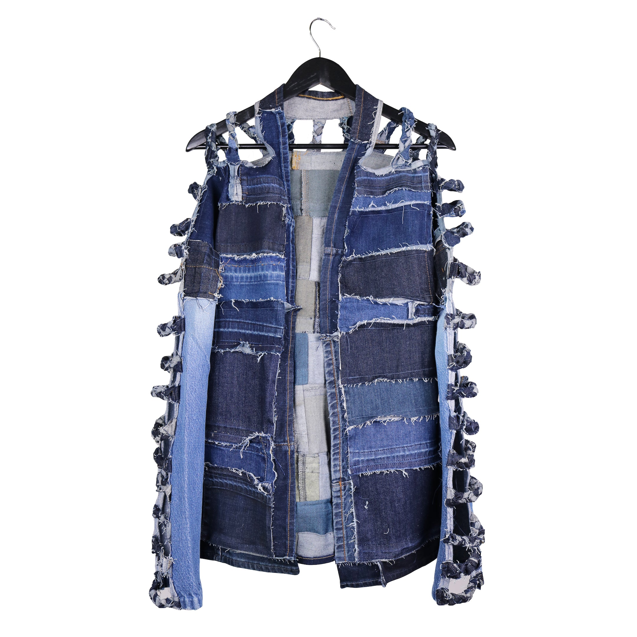 #REMIXbyStevieLeigh reversible upcycled denim jacket by Stevie Leigh Andrascik