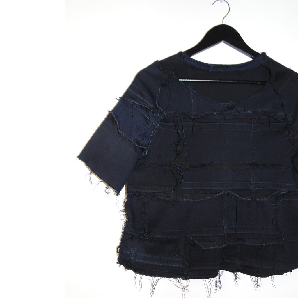 Deflector - Reversible, upcycled denim top