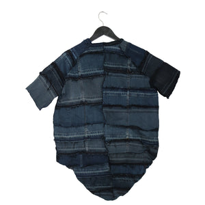 #REMIXbyStevieLeigh genderfree reversible upcycled denim t-shirt