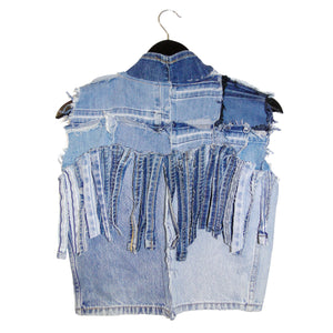#REMIXbyStevieLeigh reversible upcycled denim vest
