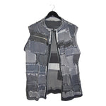 upcycled denim reversible vest