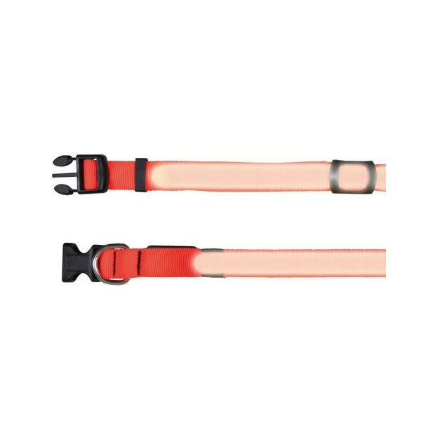 Trixie Flash Halsband - Signalorange L-XL: 55-70 cm