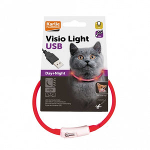 Karlie Visio Light Cat LED-Schlauch mit USB - Rot