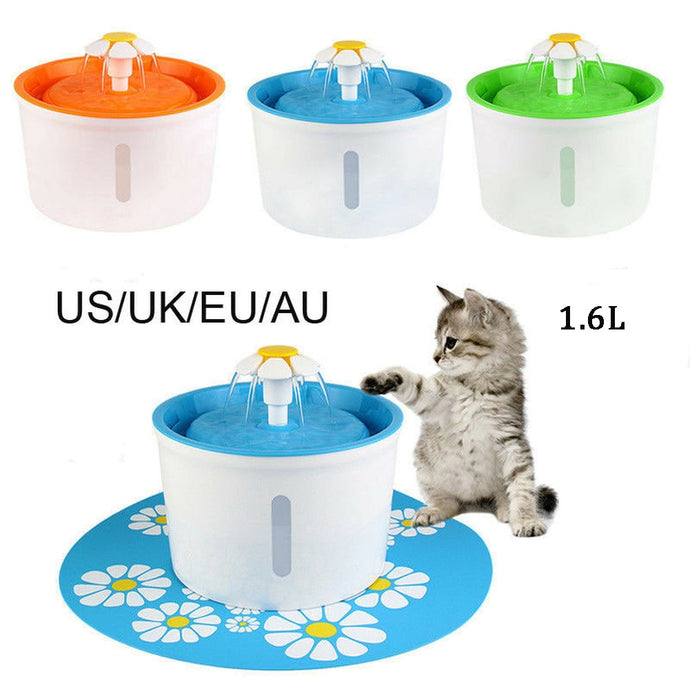 1.6L Automatic Cat Water Fountain Pet Drinking Water Fountain Pet Water Dispenser Dog Cat Health Caring Fountain Water Feeder