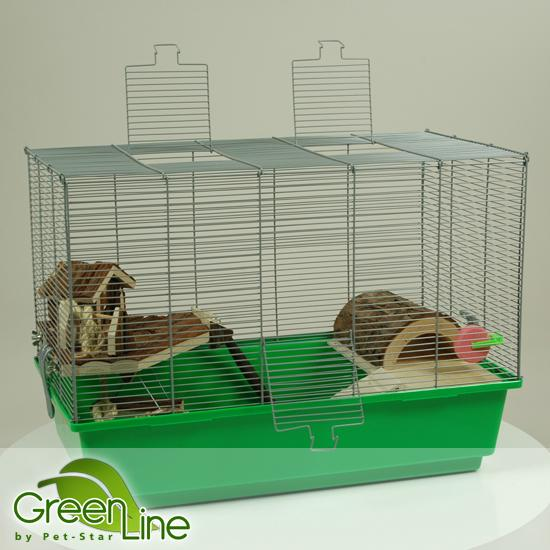 Pet-Star Hamster-/Mäusekäfig GREEN LINE 4