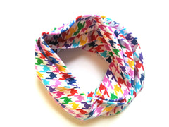 Rainbow Houndstooth Infinity Scarf
