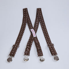 Brown with Pink Dots Suspenders