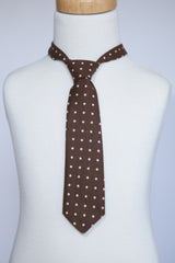 Brown with Pink Dots Necktie