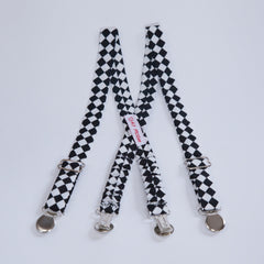Black & White Checkered Suspenders