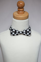 Black & White Checkered Bowtie