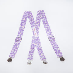 Lilac Floral Suspenders