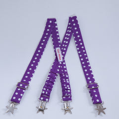 Purple with Dots Suspenders