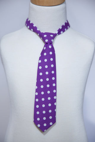 Purple with Dots Necktie