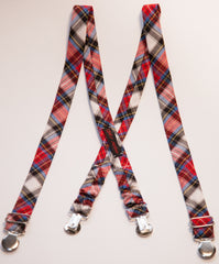 Holiday Plaid Suspenders *As Seen on NBC's Today Show*